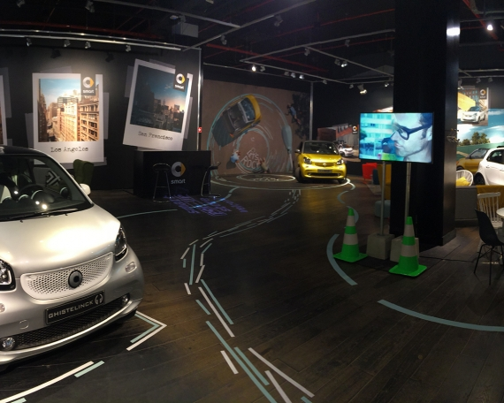 Pop up store for Smart – Kortrijk 2016