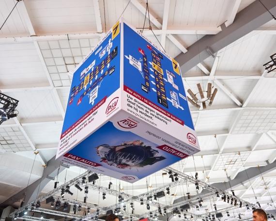 Signage cubes Brussels Motorshow 2019