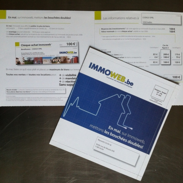 B2B mailing – IMMOWEB 2005>2010